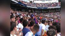 Fans Barcelona Menyusup saat Madrid Perkenalkan Hazard