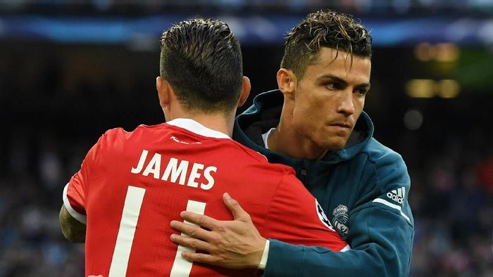 Cristiano Ronaldo disebut-sebut ingin James Rodriguez gabung ke Juventus. (Foto: David Ramos/Getty Images)