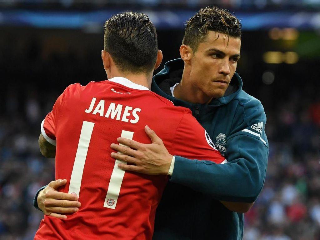 Ronaldo Ajak James ke Juventus, Sedekat Apa Hubungan Keduanya?