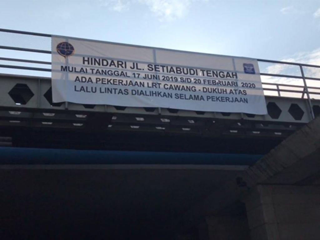 Perhatian! Jalan Setiabudi Tengah Ditutup Mulai 17 Juni 2019