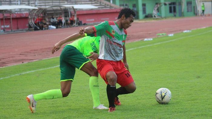 Persebaya Surabaya seri di laga ujicoba jelang melawan Madura United. (Foto: Suparno Nodhor)