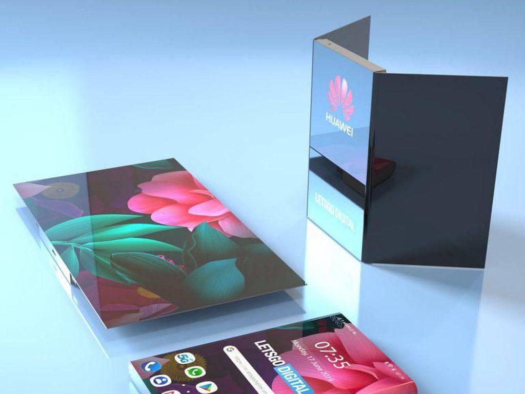 Ini Wujud Calon Suksesor Ponsel Layar Lipat Huawei Mate X?