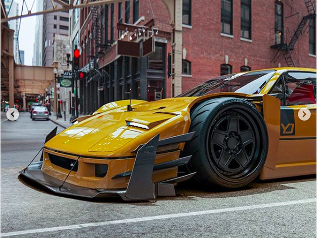 Gahar Bangat! Ferrari F40 Gendong Mesin V12
