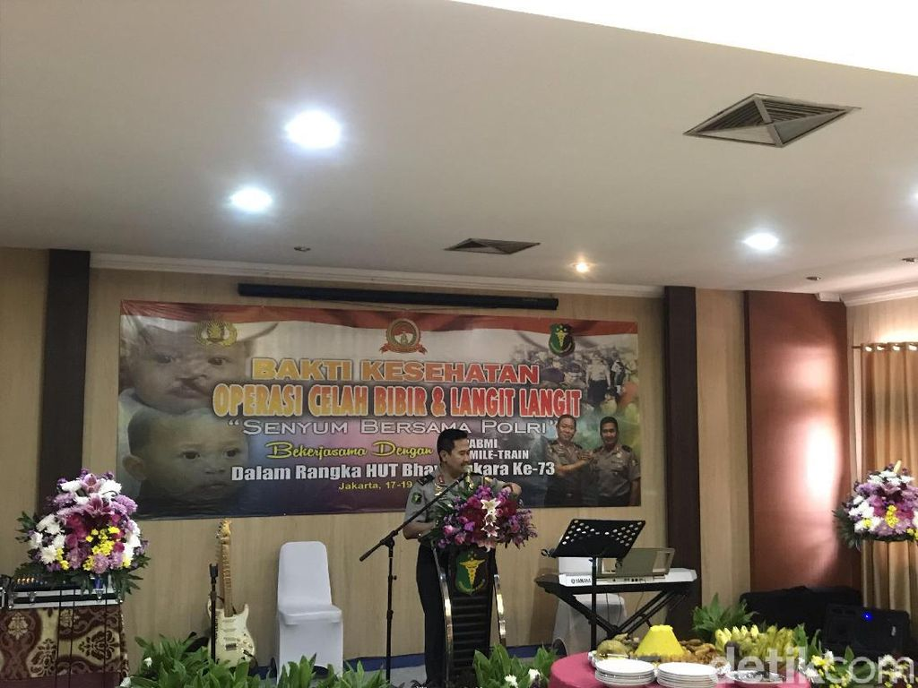 Sambut HUT Bhayangkara Ke-73, RS Polri Operasi Pasien Bibir Sumbing