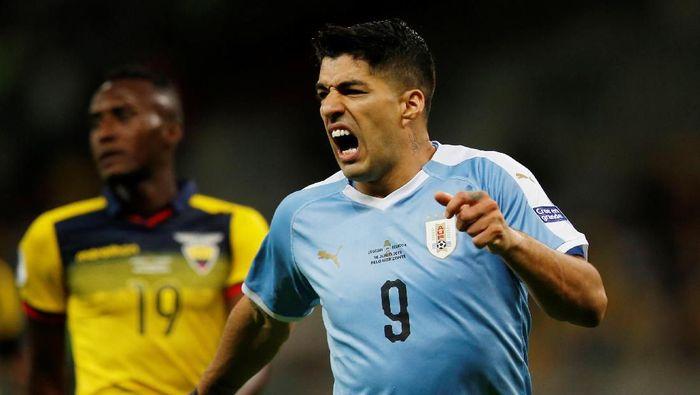 Luis Suarez bikin gol di laga pembuka Copa America 2019 usai pulih dari cedera (REUTERS/Luisa Gonzalez)