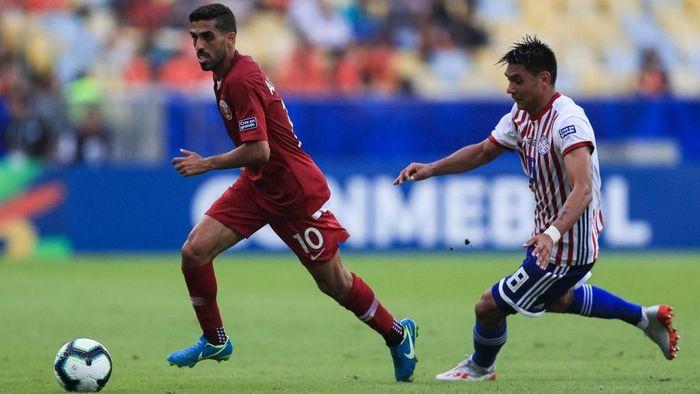 Timnas Qatar menahan Paraguay 2-2 di laga perdana Grup B Copa America 2019. (Foto: Buda Mendes/Getty Images)