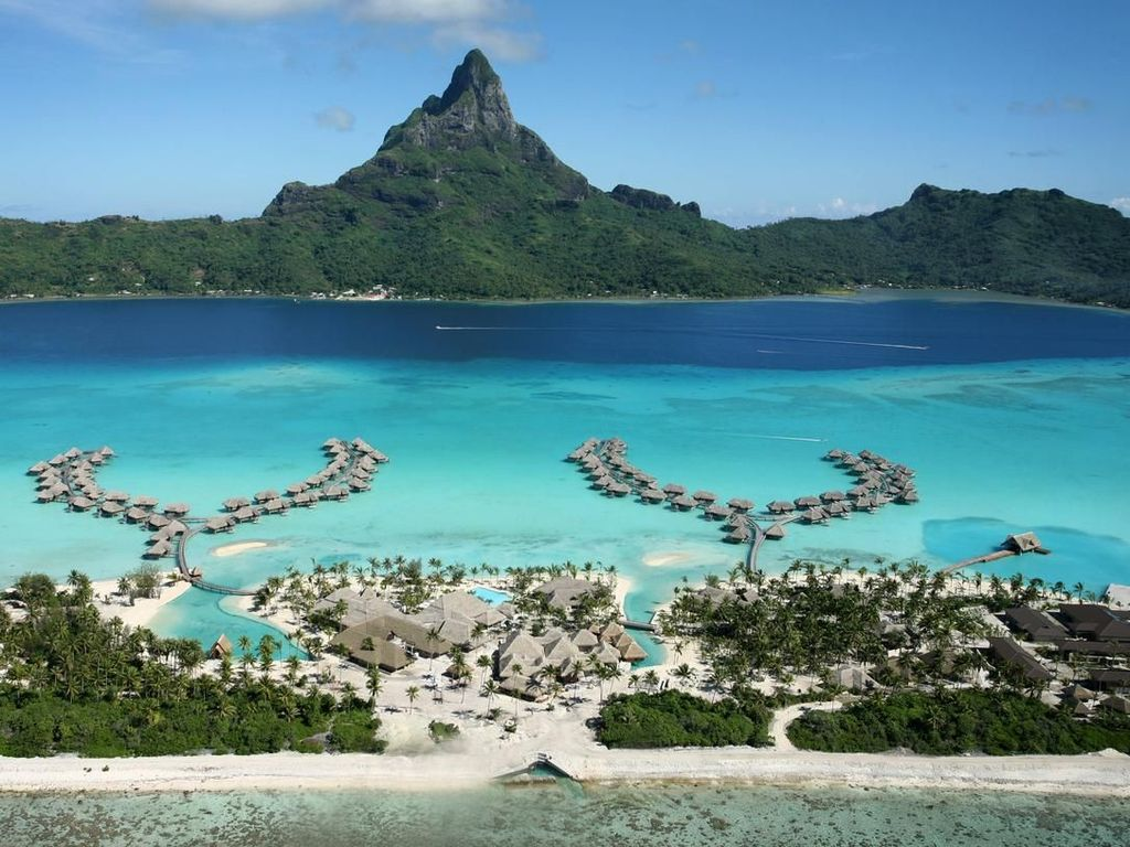 Potret Keindahan Bora-bora, Tempat Honeymoon Syahrini