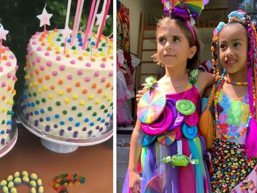 Meriah! Kim dan Kourtney Kompak Rayakan Pesta Anaknya dengan Tema Candy Land