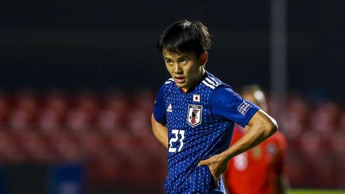 Takefusa Kubo mengaku banyak mempelajari gaya bermain Eden Hazard lewat video (Foto: Alessandra Cabral/Getty Images)