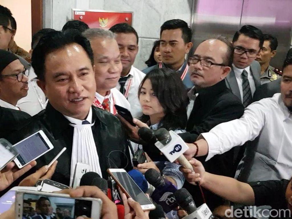 Yusril Buka Suara soal Caleg PBB Jadi Saksi Kubu Prabowo di Sidang MK