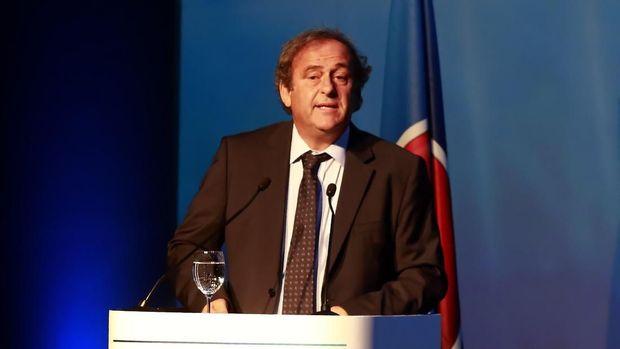 Platini saat menjabat sebagai Presiden UEFA