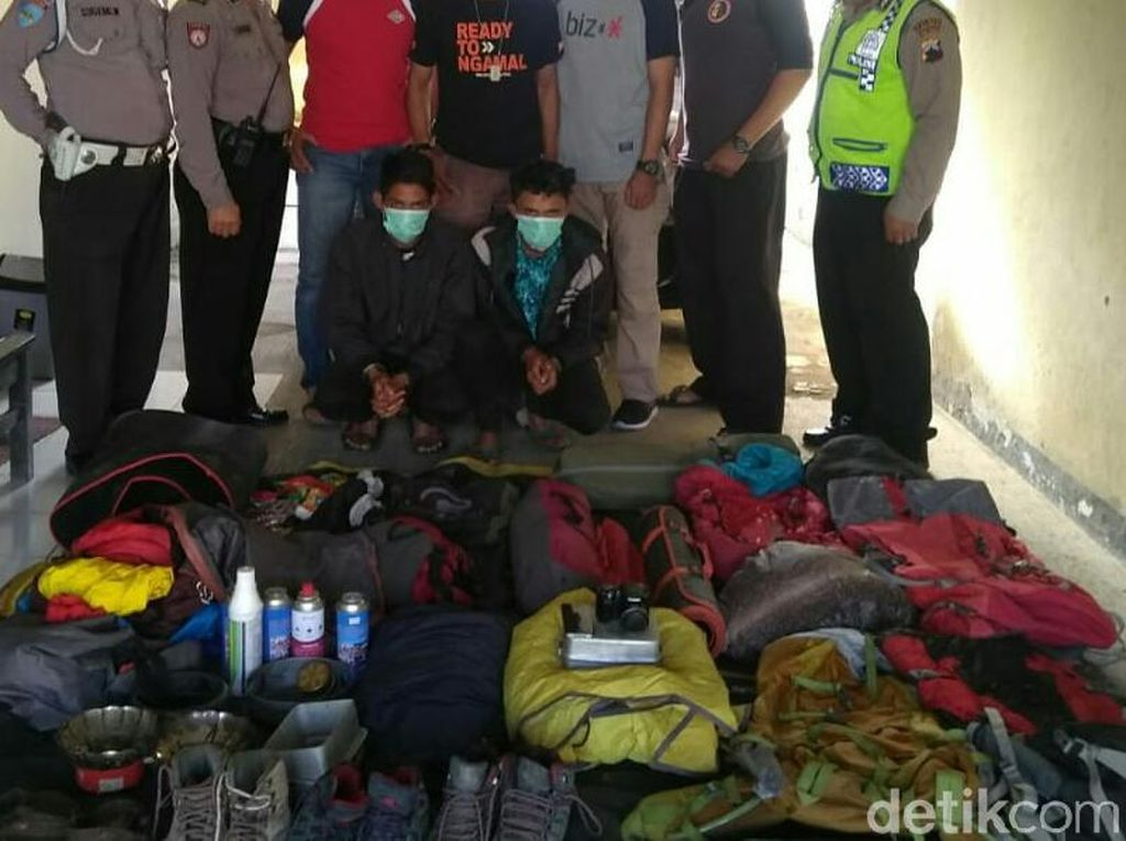 Pencurian Barang Para Pendaki Gunung Slamet Terlacak dari Sinyal GPS