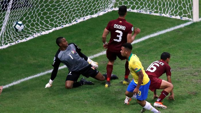 Timnas Brasil ditahan imbang oleh Venezuela. (Foto: Luisa Gonzalez/Reuters)
