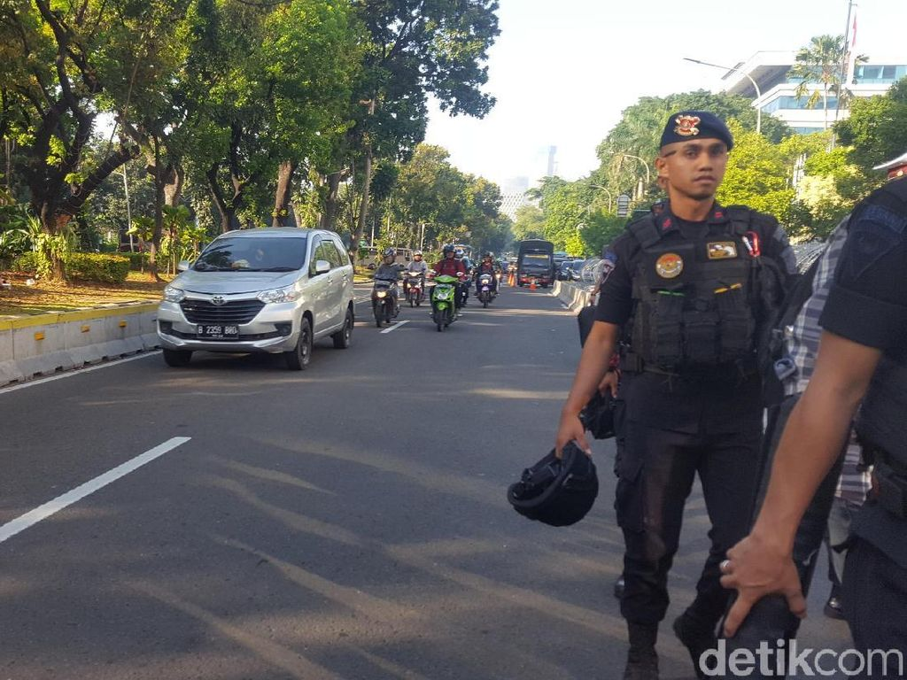 Jelang Sidang Sengketa Pilpres ke-3, Jl Depan MK Arah Thamrin Dibuka