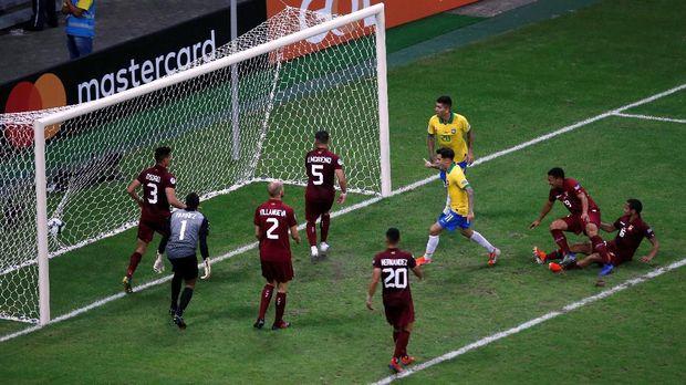 Tiga Gol Dianulir, Brasil Diimbangi Venezuela di Copa America