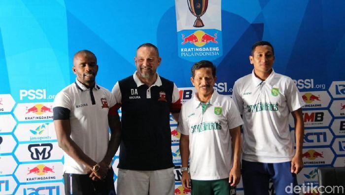 Persebaya vs Madura United berhadapan di perempatfinal Piala Indonesia. (Foto: Deny Prastyo Utomo/detikSport)