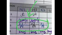Viral Tanda Tangan yang Disebut Netizen Seperti Detak Jantung