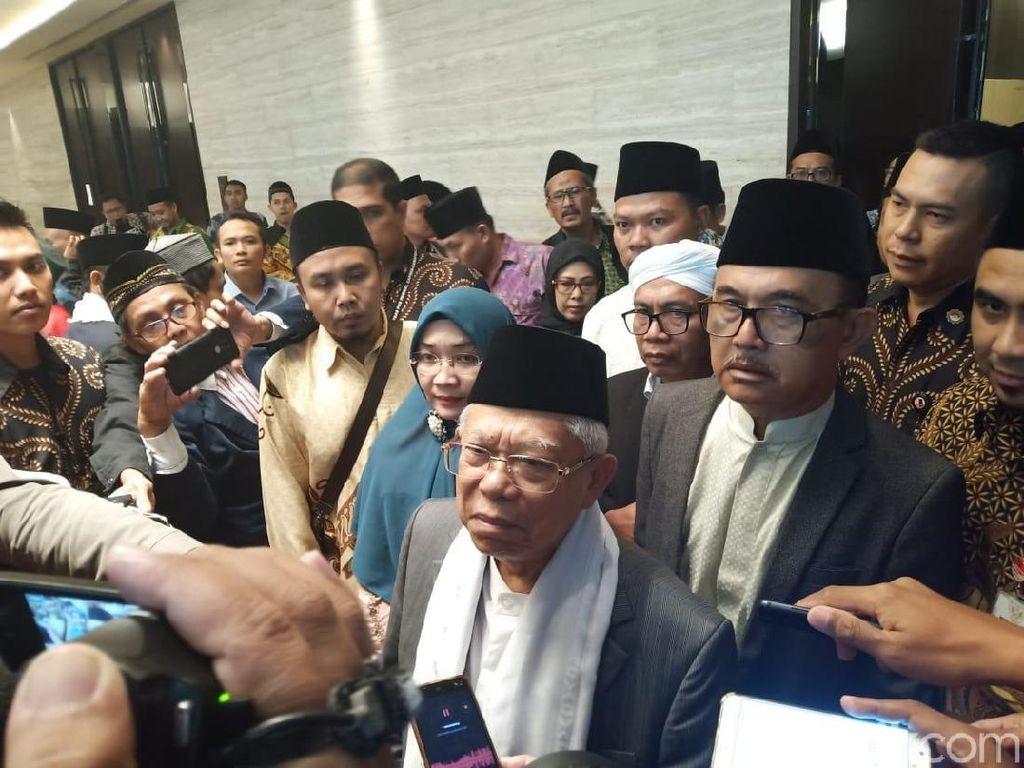 Maruf Amin Serahkan Masalah Jabatan di Bank Syariah ke KPU
