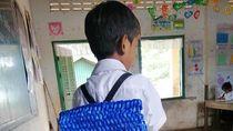 Viral! Kisah Haru Ayah Buatkan Anaknya Tas dari Tali Rafia, Bikin Netizen Iba
