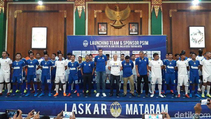 PSIM Yogyakarta memperkenalkan skuat untuk Liga 2 2019. (Foto: Ristu Hanafi/detikSport)
