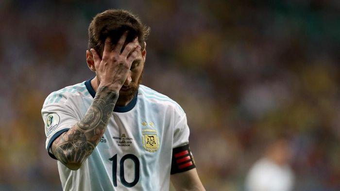 Timnas Argentina di era Lionel Messi dinilai punya masalah serius. (Foto: Bruna Prado/Getty Images)
