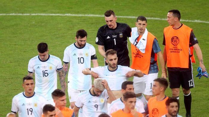 Argentina dan Lionel Messi di ujung tanduk terkait peluang lolos ke perempatfinal Copa America (Edgard Garrido/REUTERS)