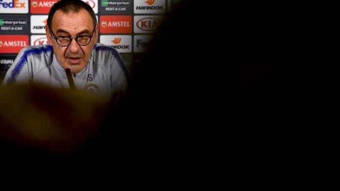 Maurizio Sarri terkesan dengan kemantapan Juventus saat mengejar dia. (Foto: Ben Stansall / AFP)