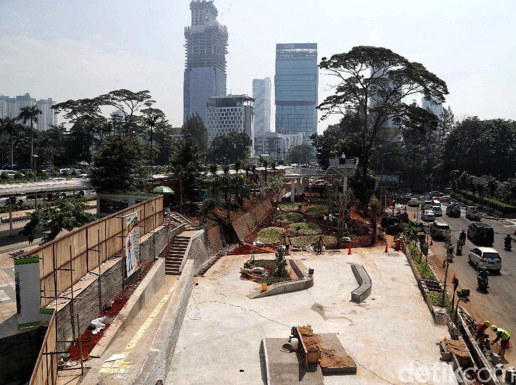 Penampakan Terkini Pembangunan Spot Budaya Dukuh Atas