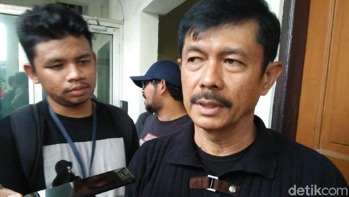 Pelatih Timnas U-23 Indra Sjafri bakal menilai pemain seleksi dalam internal game (Yulida Medistiara/detikcom)