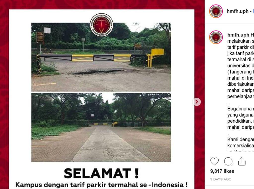 Inikah Kampus dengan Tarif Parkir Termahal di Indonesia?