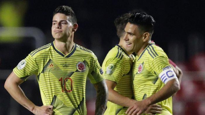 Kolombia jadi tim pertama yang memastikan lolos ke perempat final Copa America 2019. (Foto: Henry Romero/Reuters)