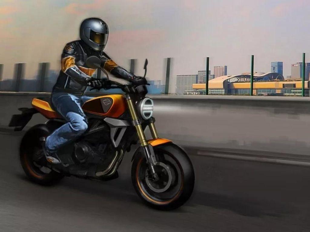 Pakai Mesin 338cc, Beginikah Motor Kecil Harley-Davidson?