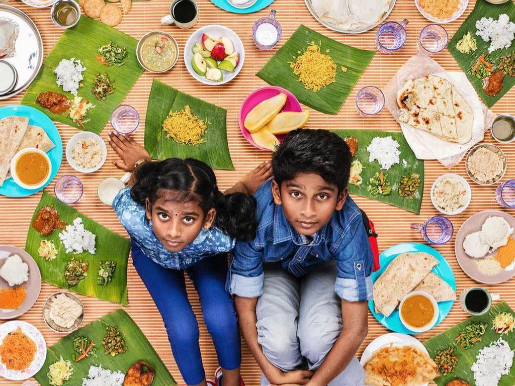 Keren! 10 Foto Makanan yang Disantap Anak-anak di Seluruh Dunia