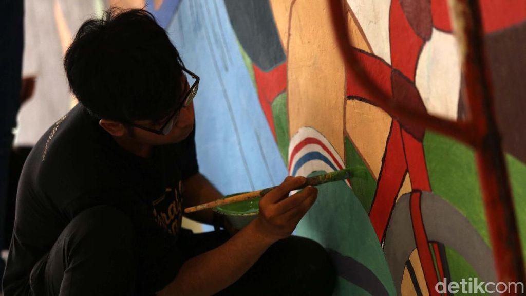 Sambut HUT DKI, Terowongan Kendal Dihias Mural