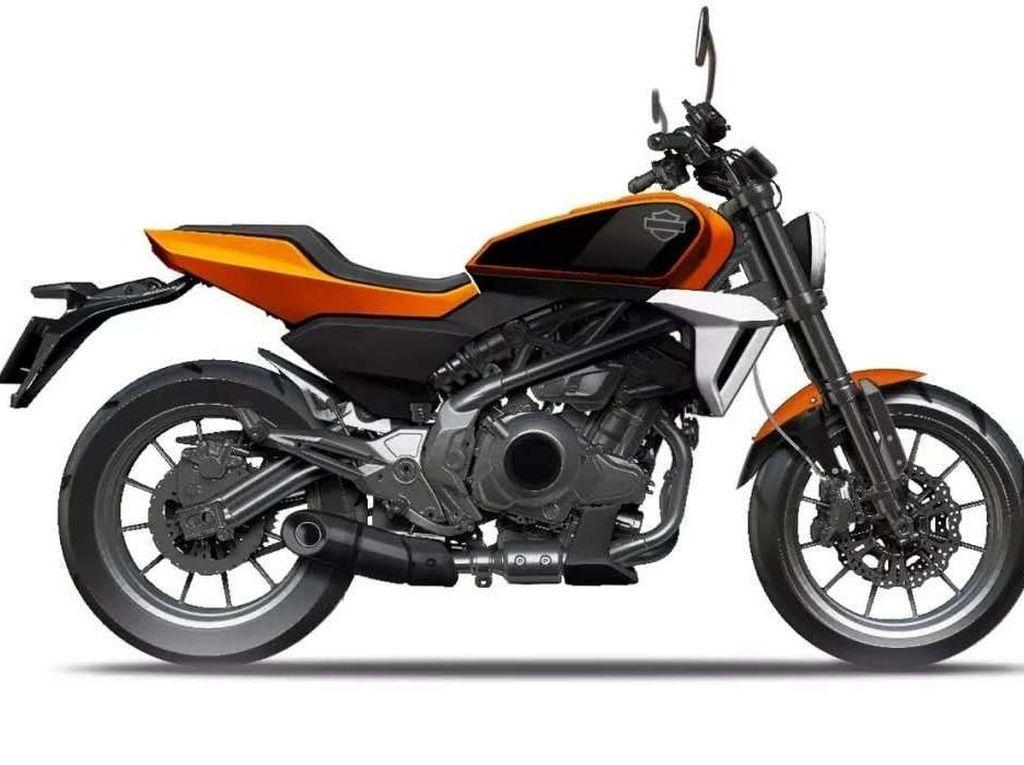 Sketsa Motor Kecil Harley-Davidson