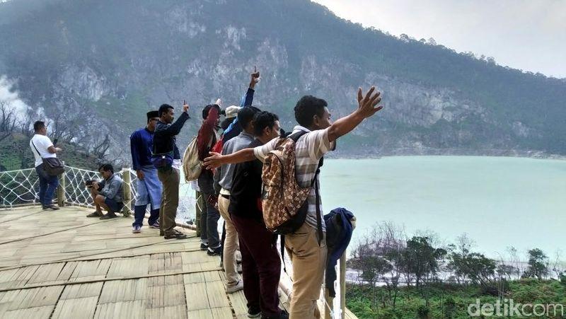 Penilaiannya jika dari 1-10 ya 10 lah, kata Pomchi Hasan, salah satu turis dari Thailand (Wisma Putra/detikcom)