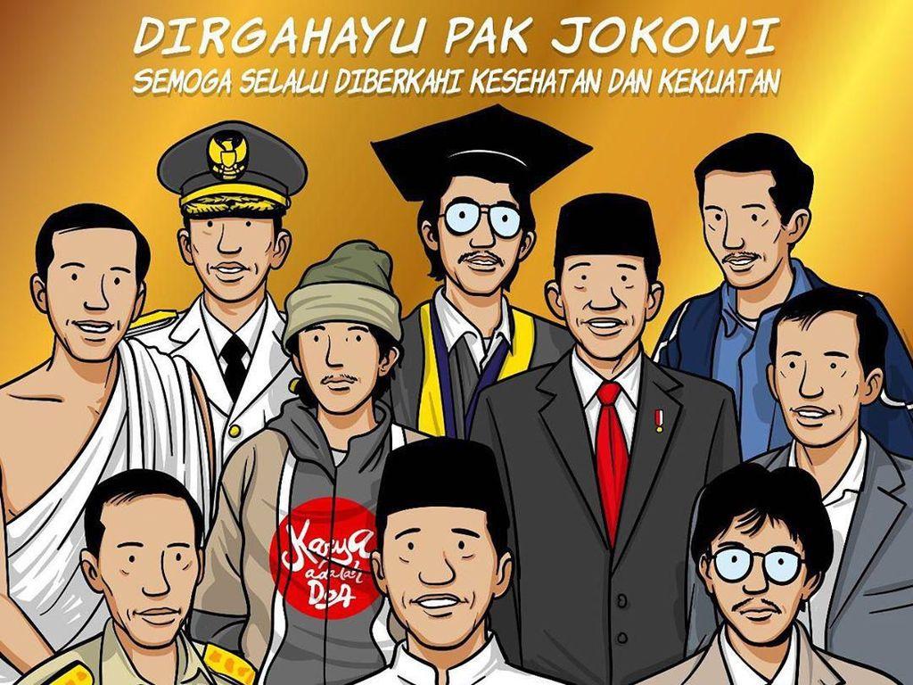 Ilustrasi Ini Ungkap Tentang Jokowi, dari Nama Mulyono hingga Presiden RI