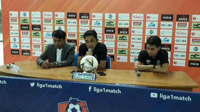 PSS Sleman kecewa imbang dengan Bhayangkara FC. (Foto: Ristu Hanafi/detikcom)