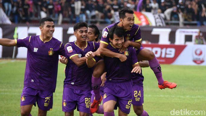 Persik Kediri menang 4-0 atas PSBS Biak di pekan pertama Liga 2 2019 Wilayah Timur, Sabtu (22/6/2019). (Foto: Andhika Dwi/detikcom)