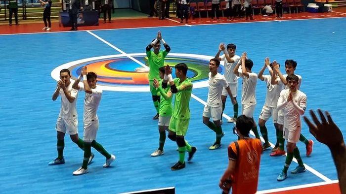 Timnas Futsal Indonesia kalah 1-9 dari Iran di perebutan tempat ketiga Piala Asia Futsal U-20 2019. (Foto: Twitter KBRI Tehran @kbri_tehran)
