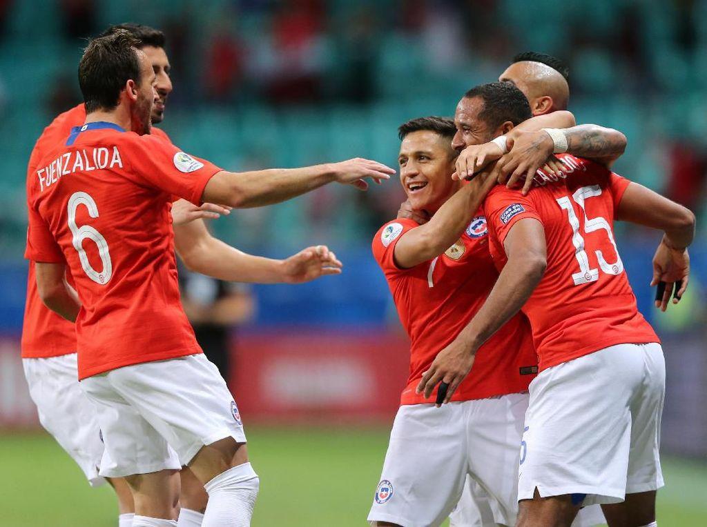 Hasil Copa America: Kalahkan Ekuador, Chile ke Perempatfinal