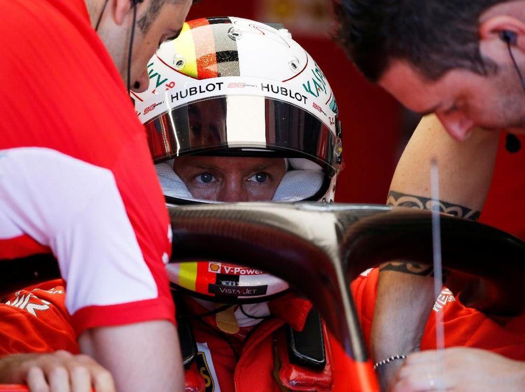 Inkonsistensi Ferrari di Kualifikasi GP Prancis Bikin Vettel Bingung