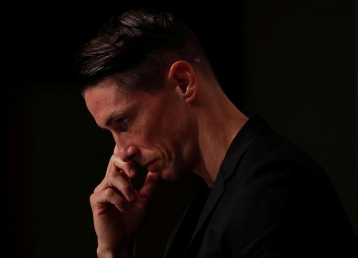 Spains World Cup winning striker Fernando Torres attends a news conference after the announcement of his retirement in Tokyo, Japan June 23, 2019. REUTERS/Issei Kato