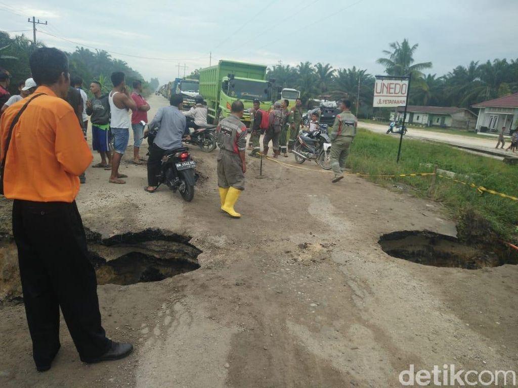 Ini Titik Jalan Nasional yang Rusak di Kabupaten Kampar Riau