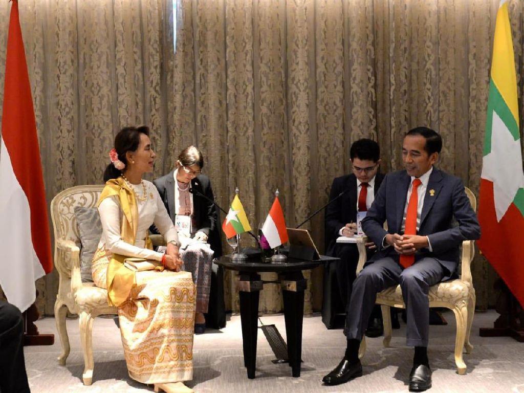Video Pertemuan Jokowi dan Aung San Suu Kyi di KTT ke-34 ASEAN