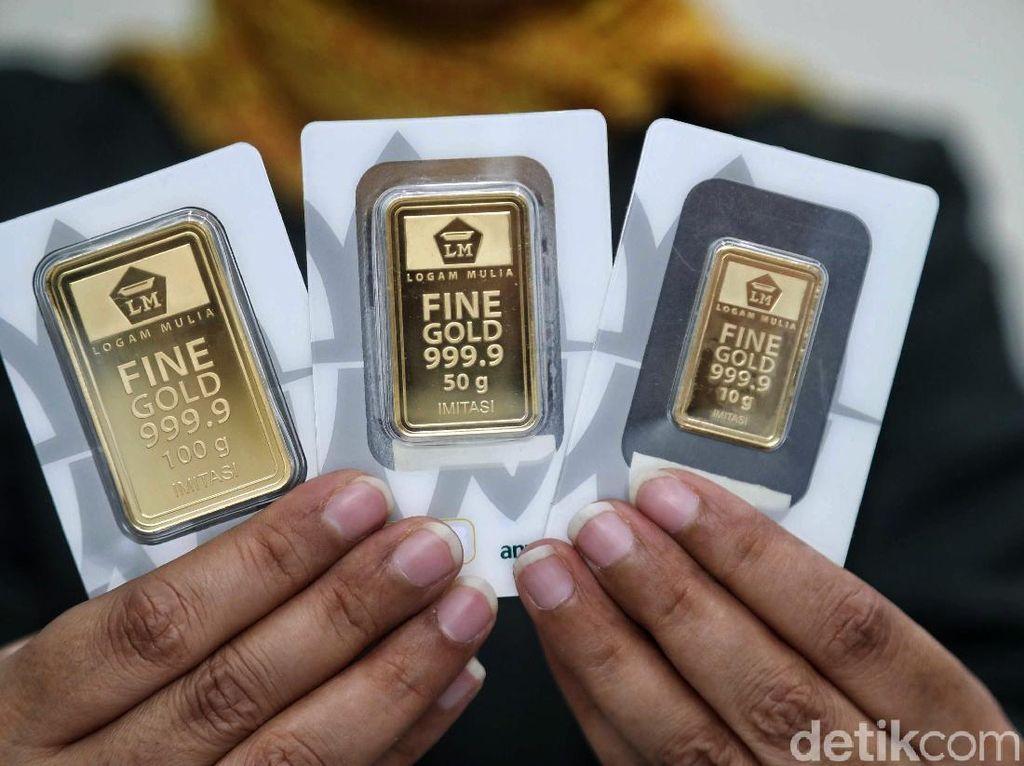 Harga Emas Antam Turun Lagi ke Rp 744.000/Gram