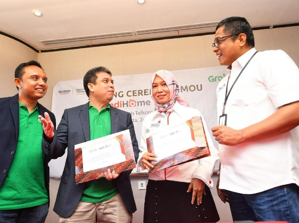 Grab Gandeng Telkom untuk Garap Internet of Things