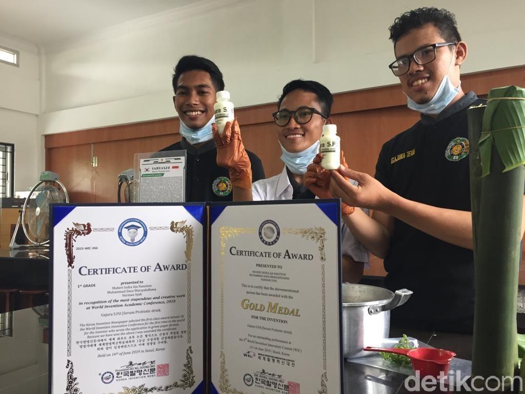 Kenalkan Minuman Gajura Spd, Mahasiswa USU Menang Kontes Inovasi di Korsel