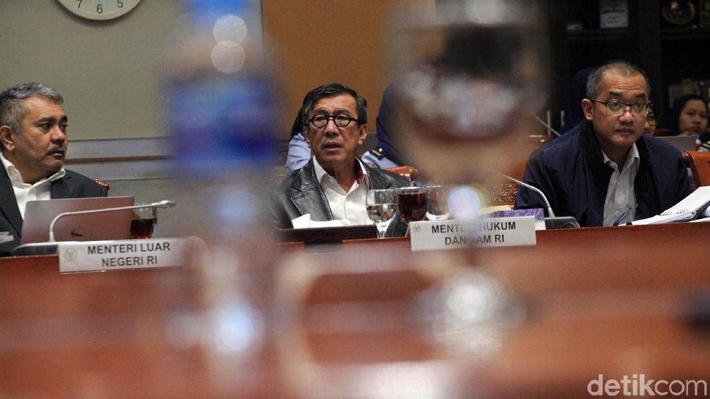 Menkumham-Komisi III Bahas RUU Ekstradisi dan Bantuan Timbal Balik