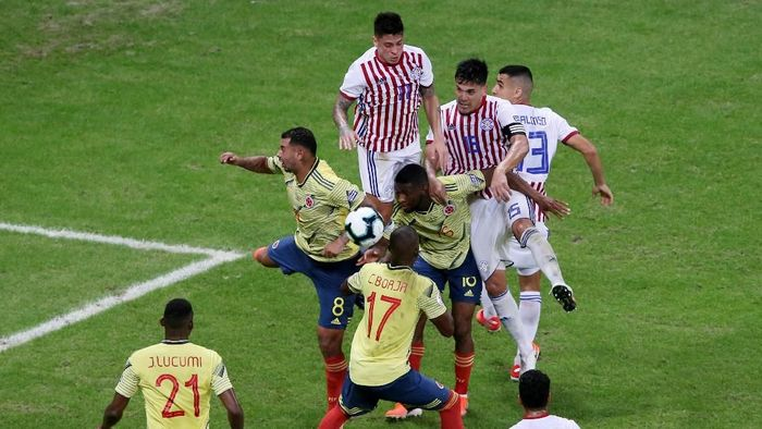 Kolombia atasi Paraguay 1-0. (Foto: Rodolfo Buhrer/REUTERS)
